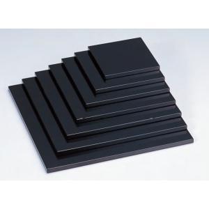 お造り盛込器 正角多用盛台 黒 6寸 木製 f6-737-3