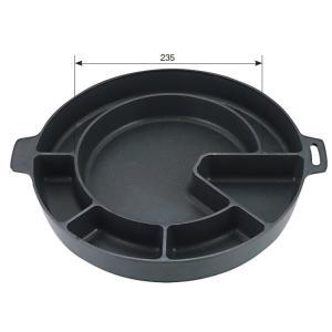 チゲ鍋 ダッカルビ鍋 変形仕切 直火・IH両用 φ342mm 韓国料理 f6-1199-3|fukuji-net