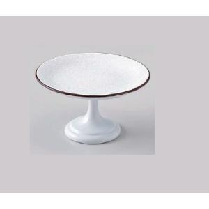和食器 4寸高月盛皿 白パール天べっ甲 樹脂製 f6-608-5
