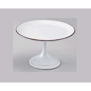 和食器 5.5寸高月盛皿 白パール天べっ甲 樹脂製 f6-608-6