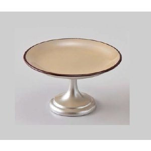 和食器 4寸高月盛皿 黄金銀彩天べっ甲 樹脂製 f6-608-7