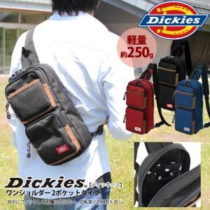 送料無料 ショルダーバッグ Dickies ディッキーズ ワンショルダーバッグ 2ポケットタイプ 12-6599|fukukichi