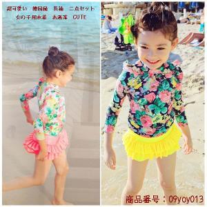女の子 水着 みずぎ キッズ 水着 ガール 人気 可愛い 韓国 プール 温泉 CUTE キッズ水着|fukumarufukumaru
