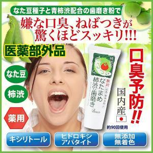 歯磨き粉 薬用 なたまめ 柿渋 口臭予防歯磨き 歯周炎防止 国内産|fukumimi-shoten