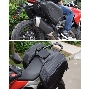 GHOST RACING バイク用サイドバッグ 装着図解を追加掲載しました 左右セット 汎用 バイク...