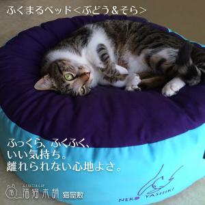 ふくまるベッド(ぶどう&そら)猫さんの大型ベッド|fukunekohonpo