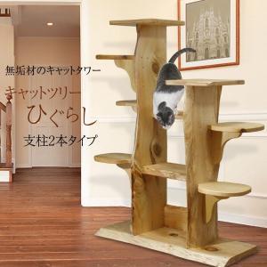 キャットツリーひぐらし 支柱2本タイプ fukunekohonpo
