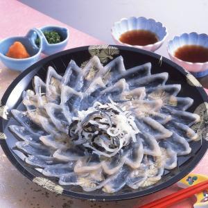 冷凍便 とらふぐ 刺身セット 25cmプラ皿 2人前 とらふぐ皮刺付き|fukunosato