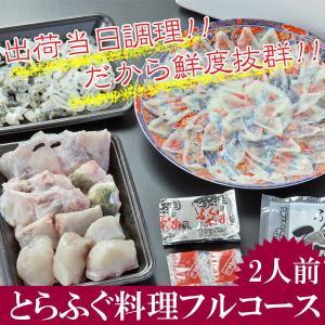 冷蔵便  とらふぐ料理セット  2人前 25.5cm陶器皿  刺身 ふぐちり 皮刺し ふぐヒレ ふくの里限定セット fukunosato