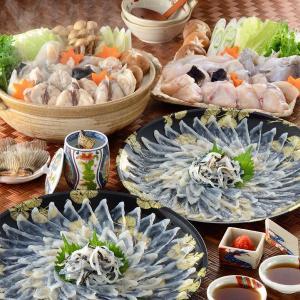 送料無料 冷凍便 下関 ふぐ料理 2世帯宴会セット 6〜8人前 刺身 ふぐちり 皮刺し ふぐヒレ fukunosato