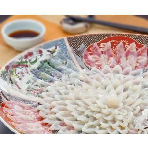冷蔵便 とらふぐ刺身 36cm陶器絵皿 5〜6人前 刺身 皮刺し|fukunosato