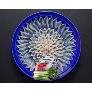 冷蔵便 とらふぐ刺身 28cm陶器皿 2人前 刺身 皮刺し|fukunosato