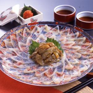 冷凍便 とらふぐ刺身セット 25.5cm美濃焼皿 2人前 とらふぐ刺身柚子風味おまけ付き 刺身  父の日 お歳暮 ギフト|fukunosato