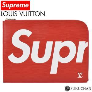 LOUIS VUITTON/ルイ・ヴィトン Supreme/シュプリーム コラボ ポシェットジュールGM レッド M67722 中古 ≪送料無料≫