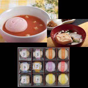お吸物 金沢ふくら屋 最中のお吸い物とスープのセット12個入 内祝い・引き出物に人気 写真入 メッセージカード 無料作成|fukuraya