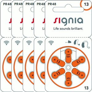 シバントス シグニア PR48(13) 補聴器用空気電池 オレンジ 5P PR48|fukushikun