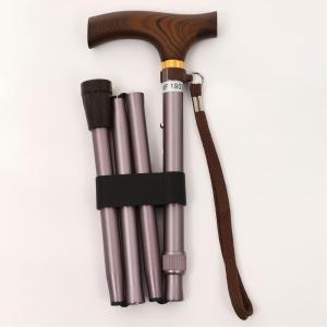 ウェルファン 夢ライフステッキ 折りたたみ伸縮型 ロイヤルブラウン 全長78〜88cm|fukushikun