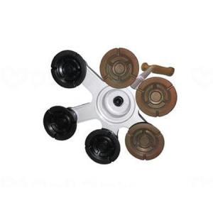 アシストインターナショナル アシストスーパー多点杖用替ゴム(6個セット) 黒×茶 AJ091|fukushikun