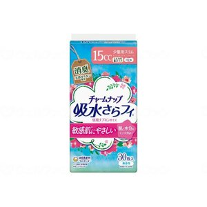 ユニ・チャーム チャームナップ ふんわり肌 少量用 15cc 無香料 30枚 昼用ナプキンサイズ 19cm 女性用|fukushikun