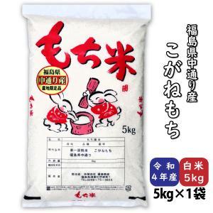 こがねもち 米 もち 白米5kg 平成30年産 福島県中通り産|fukushima-bussan