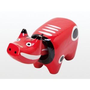 会津を代表する郷土玩具。子供の誕生には「ベコ」の如く重荷に耐えて壮健であれと「赤べこ」を供えて御祝い...