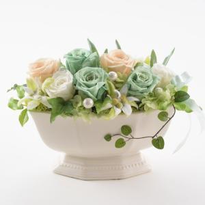 プリザーブドフラワー白陶器シャンパン お歳暮/贈答品/ギフト/福島/送料込 fukushima-ichiba