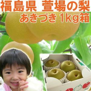 福島県 萱場産 あきづき 梨 1kg箱  (4〜5玉)|fukushimasan