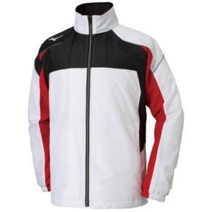 ミズノ(Mizuno) マルチウォーマーシャツ ユニセックス 32JE8590 01 ホワイト×ブラック×C.レッド(32je859001)|fukuspo