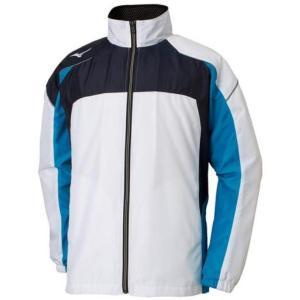 ミズノ(Mizuno) マルチウォーマーシャツ ユニセックス 32JE8590 72 ホワイト×D.ネイビー×D.ブルー(32je859072)|fukuspo