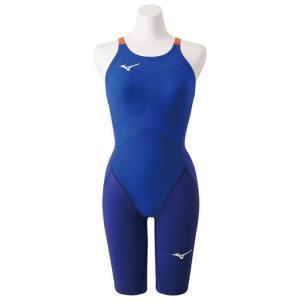ミズノ(Mizuno) GX SONIC IV ST レディース ハーフスーツ N2MG9201 27 ブルー 競泳水着 スイム スプリンターモデル(n2mg9201-27)|fukuspo