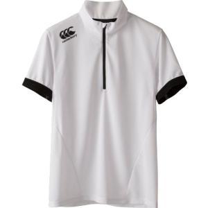カンタベリー (CANTERBURY) メール便送料無料 ラグビー ショートスリーブ ジップアップ Tシャツ RP37033 S/S ZIP UP TEE メンズ 半袖Tシャツ 機能Tシャツ(rp3703 fukuspo 03