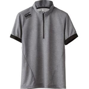 カンタベリー (CANTERBURY) メール便送料無料 ラグビー ショートスリーブ ジップアップ Tシャツ RP37033 S/S ZIP UP TEE メンズ 半袖Tシャツ 機能Tシャツ(rp3703 fukuspo 04