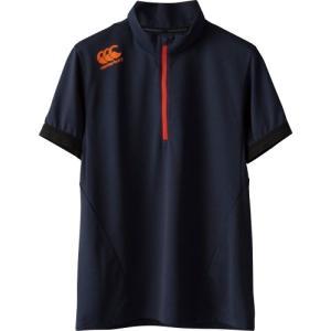 カンタベリー (CANTERBURY) メール便送料無料 ラグビー ショートスリーブ ジップアップ Tシャツ RP37033 S/S ZIP UP TEE メンズ 半袖Tシャツ 機能Tシャツ(rp3703 fukuspo 06