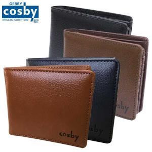 二つ折り 財布 二つ折れ ウォレット ロゴ 型押し Gerry Cosby ジェリーコスビー