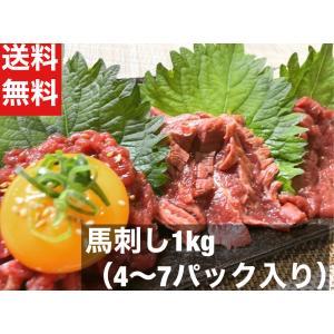 馬刺し 馬肉 約1kg 約4〜5パック 送料無料 赤身