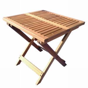 木製テーブル 50x50 サイドテーブル (折りたたみテーブル)マレーシア産アカシア材|fukusyou-garden