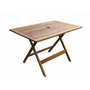 ガーデンテーブル ナポリ・テーブル 120 マレーシア産アカシア材|fukusyou-garden