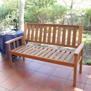 木製ベンチ ニューヨーク 3シートベンチ マレーシア産アカシア材 ガーデンベンチ|fukusyou-garden