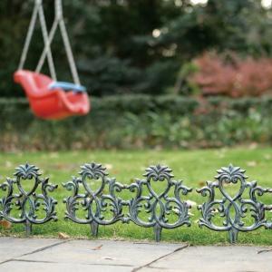 アンティーク調アイアンフェンス おしゃれなガーデンフェンス 幅35cm|fukusyou-garden