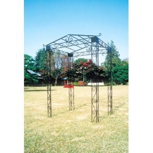 ブドウ棚や藤棚などに最適 ロートアイアンのパーゴラ マウンテンパーゴラ |fukusyou-garden