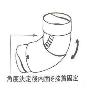スライドエルボ(100°〜135°) 75 パナソニック雨樋部品 たて系列 fukusyou-garden