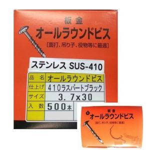 ステンレスSUS410 オールラウンドビス  黒ツヤケシ ピークス 板金ビス