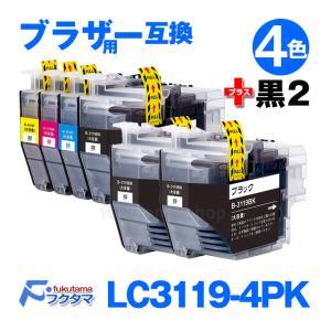 LC3119 互換インク LC3119-4PK 4色セット+黒2本(LC3119BK) ICチップ付 (LC3117-4PKの増量版) ブラザー プリンター 用 互換インクカートリッジ|fukutama