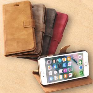 手帳型ケース iPhone8 8plus iPhone7 7plus iPhone6 6plus ケース カバー スエード調 マグネットベルト 高級感 上質 ヴィンテージ おしゃれ 耐衝撃 送料無料|fukutama