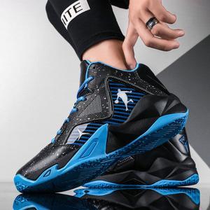 バスケットボールシューズ メンズ レースアップシューズ アクティブシューズ バスケットボール 配色切替え 面白い デザイン 厚底 衝撃吸収 防滑 送料無料 fukuya-store