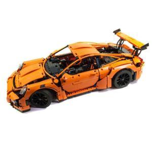 レゴ ポルシェ911 GT3 RS 互換品 オレンジ テクニック クリスマス プレゼント 42056|fulfilldream