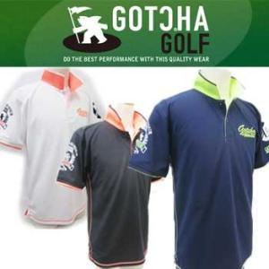 ガッチャゴルフ 62GG1917 吸水速乾 鹿の子 ネオン 使い ポロシャツ|full-shot