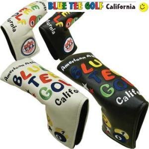 ブルーティーゴルフ スマイル&ピンボール マジックテープ式 ピン型 パターカバー ヘッドカバー  BLUE TEE GOLF