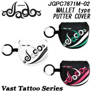 ジャド JGPC7871M-02 Vast Tattoo シリーズ パター用 マレットタイプ ヘッドカバー Vast Tattoo JADO 2018|full-shot