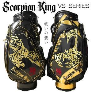 【期間限定/オマケ付き】スコーピオンキング キャディバッグ SKCB-002 ブラック/ブラック×ゴールド 9.5型 4.8kg Scorpion King 即納|full-shot